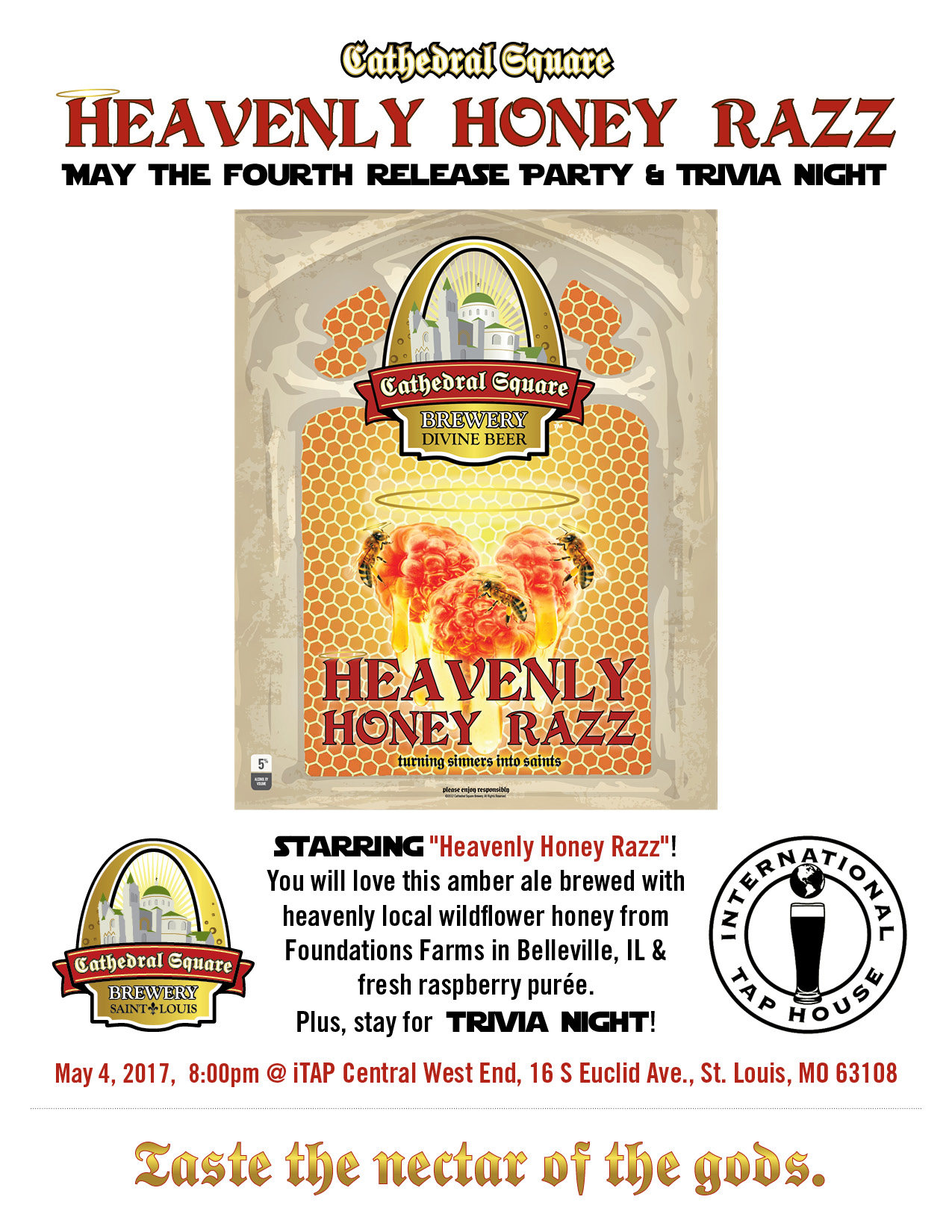 CSB Honey Razz iTAP Release Flyer